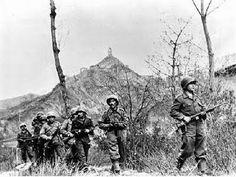 FEB (Expeditionary Brazilian Forces) patrol around Monte Castelo, in February 1945
