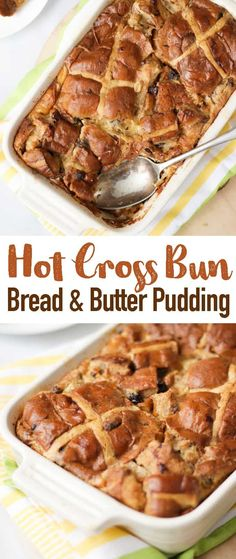 This Hot Cross Bun Bread and Butter Pudding is the perfect warming Easter desser. - This Hot Cross Bun Bread and Butter Pudding is the perfect warming Easter dessert. Really simple to - Pudding Desserts, Pudding Recipes, Easy Desserts, Dessert Recipes, Pudding Ideas, Brunch Recipes, Yummy Recipes, Chocolate Hot Cross Buns, Easter Hot Cross Buns