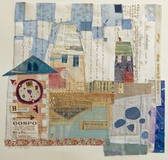 Elaine Hughes English Textile DesignerI love the irregularity and simplicity of this quilt. And of course I LOVE the houses.