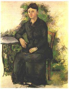 Madame Cezanne in the garden - (Paul Cezanne)