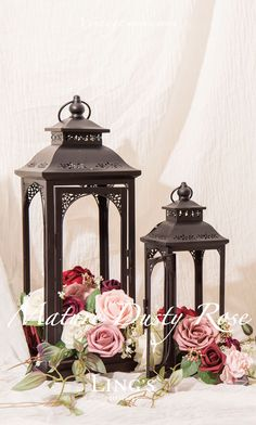 Dusty Rose Summer Wedding - Real touch artificial rose for wedding and party! 36 colors 10 Off Lantern Centerpieces, Lanterns Decor, Flower Centerpieces, Wedding Centerpieces, Wedding Table, Rustic Wedding, Flower Decorations, Wedding Ideas, Rose Wedding