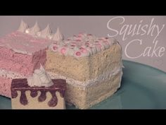 Squishy Cake Slice - How To - Homemade Squishies! Tutorial by SoCraftistic. 05/16/14.