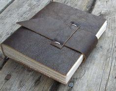 Leather Mini Journal - I like the closure method