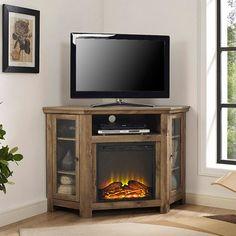 44 best corner fireplace tv stand images corner fireplace tv stand rh pinterest com