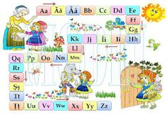 Creionasul cel istet si prietenii: Alfabet - plansa (labirint)