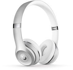 Beats By Dr Dre Solo 3 Wireless Headphones - The Beats Icon Collection, Satin Silver - White - Bluetooth Headphones, Beats Headphones, Over Ear Headphones, Beats By Dre, Top Tech Gifts, Beats Solo 3, Ear Sound, Phone Accessories, Silver