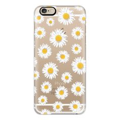 iPhone 6 Plus/6/5/5s/5c Case - DAISIES ($40) ❤ liked on Polyvore featuring accessories, tech accessories, phone cases, phone, iphone case, cases, apple iphone cases and iphone cover case