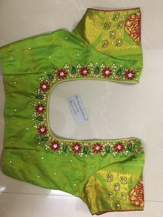 Discover thousands of images about Sudhasri hemaswardrobe Best Blouse Designs, Simple Blouse Designs, Bridal Blouse Designs, Traditional Blouse Designs, Pattu Saree Blouse Designs, Maggam Work Designs, Embroidery Suits Design, Work Blouse, Maggam Works