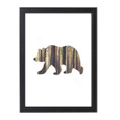 A rustic bear print, made from an image of a forest. More details below Forest Nursery, Bear Nursery, Woodland Nursery, Nursery Wall Art, Quote Prints, Art Prints, Scandi Art, Bear Theme, Wild Forest