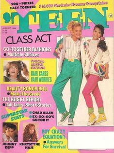 Teen Magazines, Vintage Magazines, Fashion Magazines, 80s And 90s Fashion, Teen Fashion, My Magazine, Magazine Covers, Teenage Hair, Teenage Dream