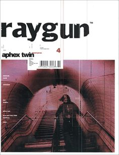 "Raygun is my favourite magazine of all time. I really admire David Carson for the design ""risks"" he took and how in my opinion, he revolutionalized design. Poster Sport, Poster Cars, Poster Retro, Graphic Design Posters, Graphic Design Typography, Graphic Design Inspiration, Graphic Designers, 90s Design, Design Food"