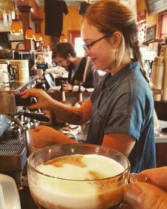 """I consider @javahydepark my """"home"""" coffeeshop and I know I can always count on a good shot pulled by """"Em"""" the talented barista (& manager) who I think lives there?  #boisebarista"""
