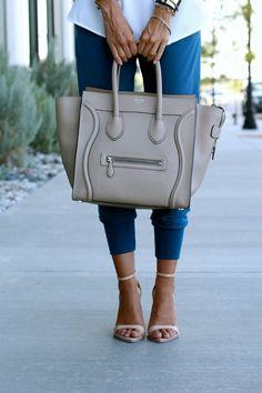 Blue // White shirt   Styled Avenue