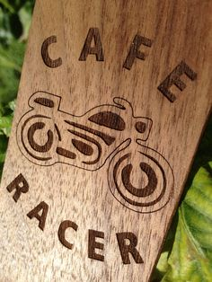 Cafe Racer Phone Case Wooden Bike iPhone 6 6plus / 5 5s / 4 4s Case Motorcycle Personalized Gift For Him Present For Her August Trends by LaserWoodCut on Etsy