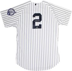 b30c3a7d919 DEREK JETER AUTOGRAPHED SIGNED NEW YORK YANKEES  2 RETIREMENT DAY JERSEY  STEINER Yankee White