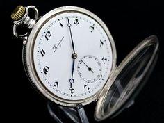 ロンジン懐中時計 黒金装飾・銀無垢 1916年製