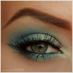 Special Koko - Make-up, beauty & fashion!: Tutorial Oceania - Mint & Blue Make-up Look