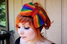 Rainbow Crocheted Headband