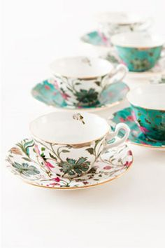 Nishaat Cups & Saucers (Set of Linen Bedroom, Tea Service, Home Fragrances, Cup And Saucer Set, Beautiful Hands, Dinnerware, Tea Cups, Luxury, Stylish
