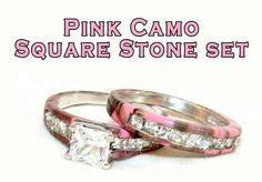 Pink Camo Wedding Ring Set. I've got the perfect girl in mind...