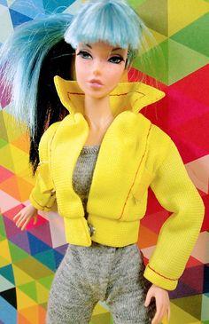 Barbie Vintage Yellow Sport Jacket