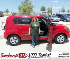 #HappyAnniversary to Dorothy Ayling on your 2013 #Kia #Soul from Samuel Griffith at Southwest KIA Rockwall!