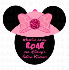 Disney Animal Kingdom Minnie Mouse Girls Iron On T Shirt Transfer Pink by CELEBRATees on Etsy https://www.etsy.com/listing/248523818/disney-animal-kingdom-minnie-mouse-girls