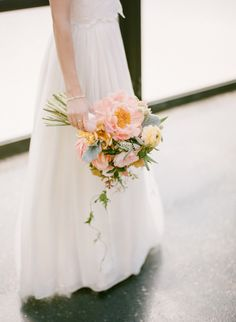 Beautiful bouquet: http://www.stylemepretty.com/2014/12/30/romantic-red-hook-brooklyn-wedding/ | Photography: Rebecca Yale - http://www.rebeccayaleportraits.com/