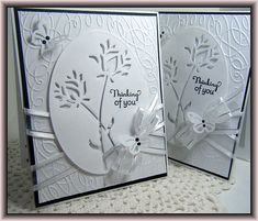 A lovely white monochromatic card by the famous Lisa :-)