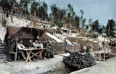 behind German lines WW One in unusual color photo Hans Hildenbrand