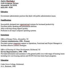 example of public administrator resume httpresumesdesigncomexample - Public Administration Sample Resume