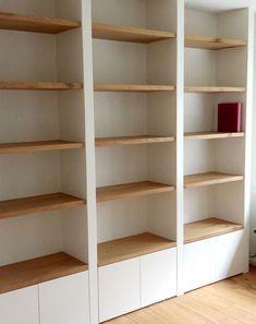 Home Library Design, Home Office Design, Home Office Decor, Home Interior Design, Living Room Built Ins, Bookshelves In Living Room, Built In Bookcase, Dressing Design, Regal Design