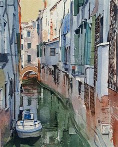 """""""A Quiet Canal in Venice"""" by David Morris"""
