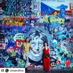 Love is the answer.  @cicaandlina exploring Prag a little bit  #JohnLennon #JohnLennonWall #johnlennonwallprague #prague #czech #travelczech #travelprague #exploreczech #exploreprague #dutchboy #czechgirl #love #loveistheanswer #twinflames #travelgram #IGtravel #CicaAndLina