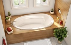 AKER ACRYOO-4272. Oval bathtub.2 backrests with lumbar support.Armrests.Deck for faucet.Textured floor.End drain. Drop-in installation.
