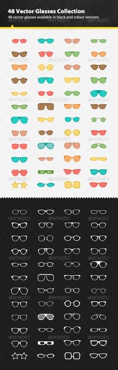 48 Vector Glasses Collection #GraphicRiver