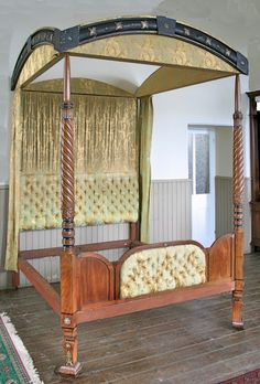 Antique Regency Four Poster Bed from Dunster Castle | Original 4 Poster Antique Bed |circa 1815