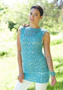 Caron International | Free Project | Crochet Tunic #crochet #spring #summer