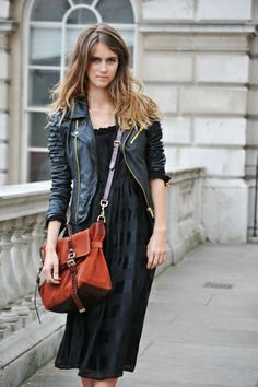 Edgy, casual, and cool.  Need to find that perfect little black leather jacket.