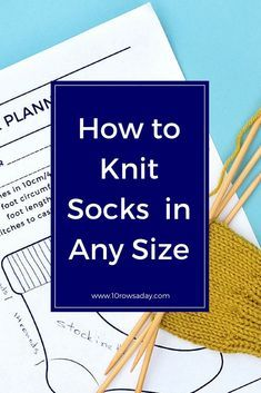 Simple Way to Knit Socks, Part 2 – 10 rows a day Vogue Knitting, Loom Knitting, Knitting Stitches, Knitting Socks, Knitting Needles, Knitting Patterns Free, Free Knitting, Stitch Patterns, Cowl Patterns