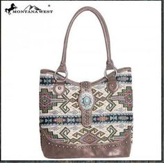 Western Aztec Collection Handbag by Montana West Aztec Bag, Boho Bags, Purses And Handbags, Montana, Bucket Bag, Westerns, Beige, Grey, Shoulder Bag