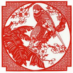 Попугаи Chinese Paper Cutting, Paper Cutting Patterns, Diy And Crafts, Paper Crafts, Folk Festival, Leather Sheets, Tattoo Parlors, Student Gifts, Scroll Saw