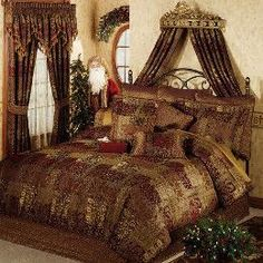 Croscill Galleria Red Comforter Set - Queen Sheets Bedding (2A0003DO405610)