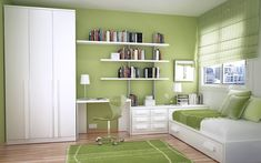 love this color and the combination of guest room/office
