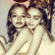 Pretty People, Beautiful People, Alana Champion, Bff, Besties, Lily Depp, Lily Rose Melody Depp, Estilo Rock, Vanessa Paradis