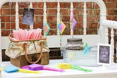 Mary Poppins Party with Lots of Really Cute Ideas via Kara's Party Ideas | KarasPartyIdeas.com #MaryPoppins #SpoonfulOfSugar #Party #Ideas #...