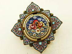 Vintage Micro Mosaic Brooch