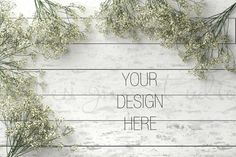 Styled Stock Photography Styled Desk On White Shabby by HisariDS