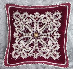 Bobin lace for clothes or pillow decoration.