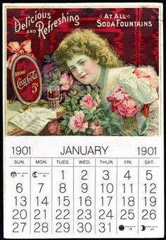 Grandmas love calendars that were given out free and had them in every room of her home. Coca Cola Vintage Advertising